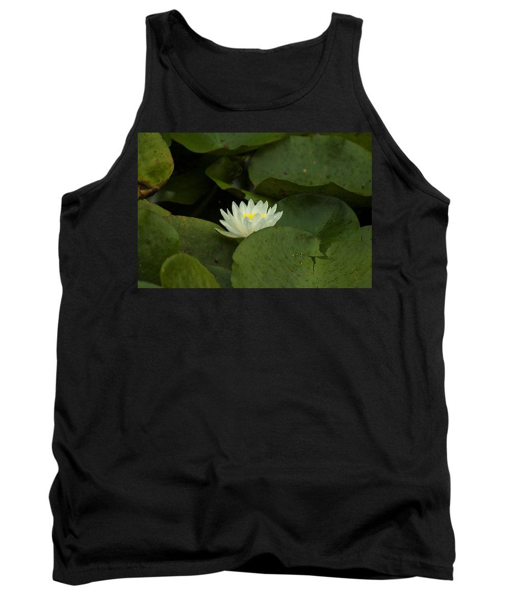Lily Tank Top featuring the digital art White Lilly by Chris Flees