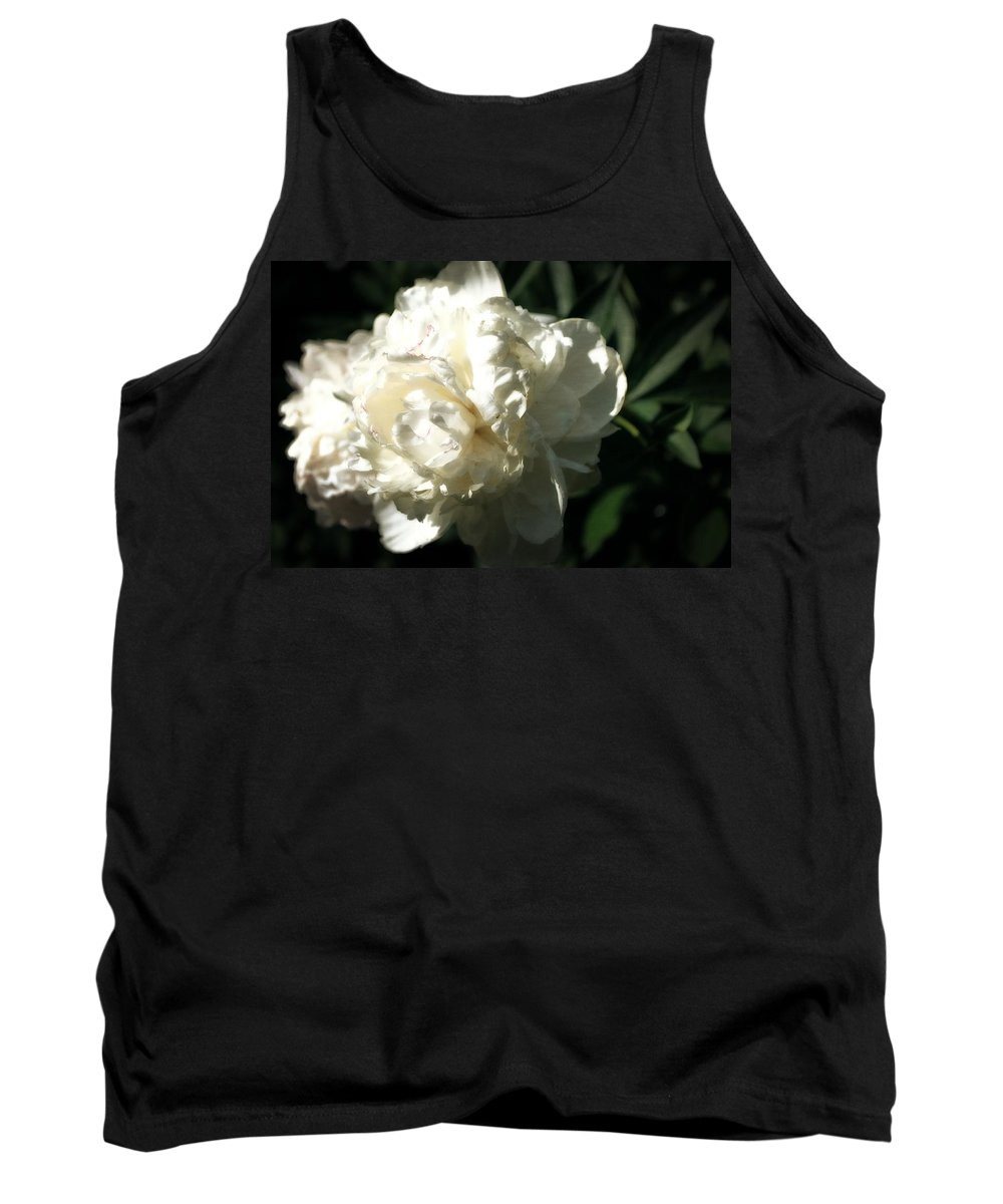 Peony Tank Top featuring the photograph White Peony In Spring by Michelle Calkins
