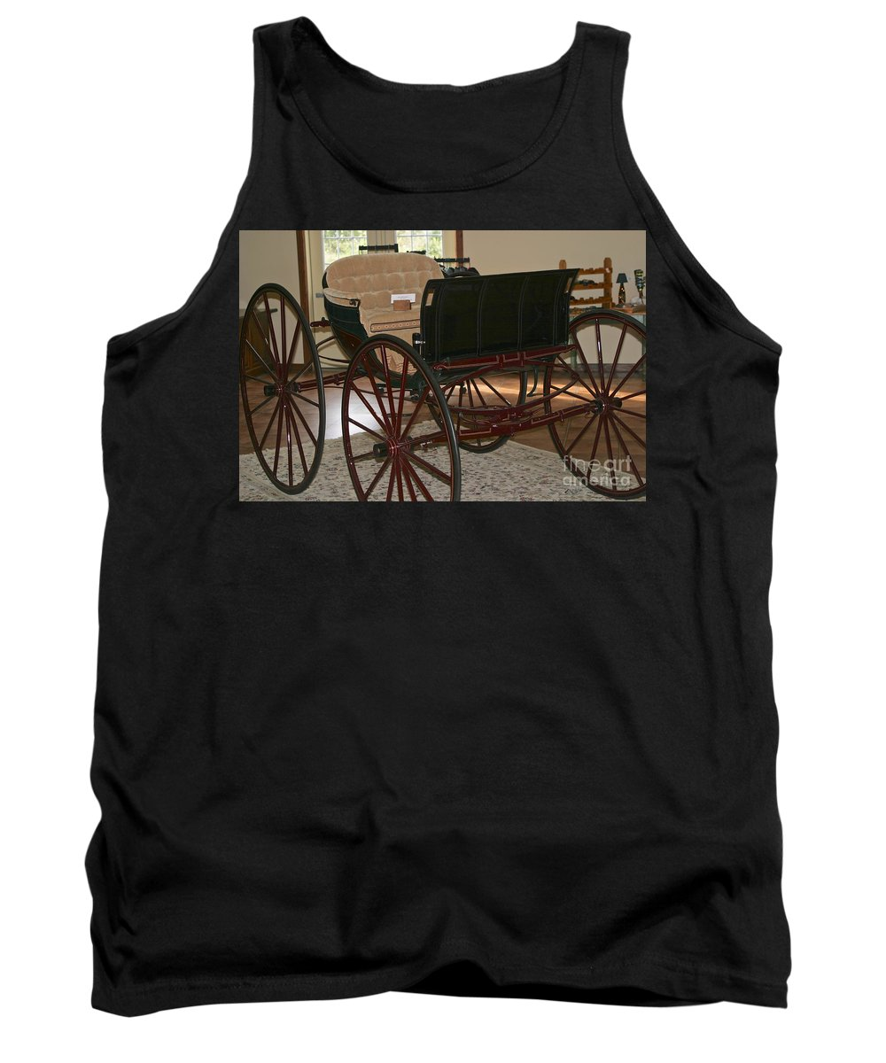 Seneca Lake Tank Top featuring the photograph White Spring Carriage by William Norton