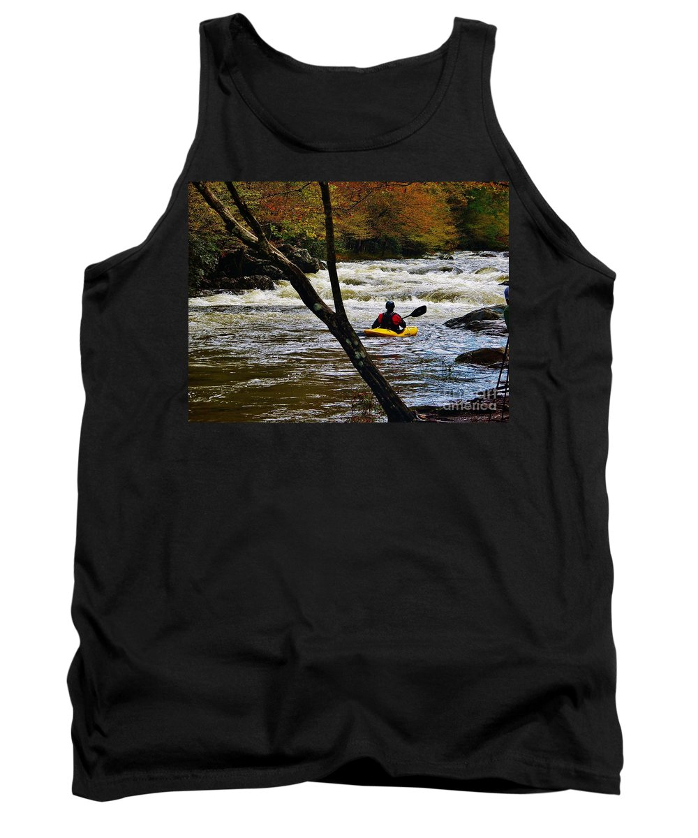 White Water Tank Top featuring the photograph White Water by Janice Spivey