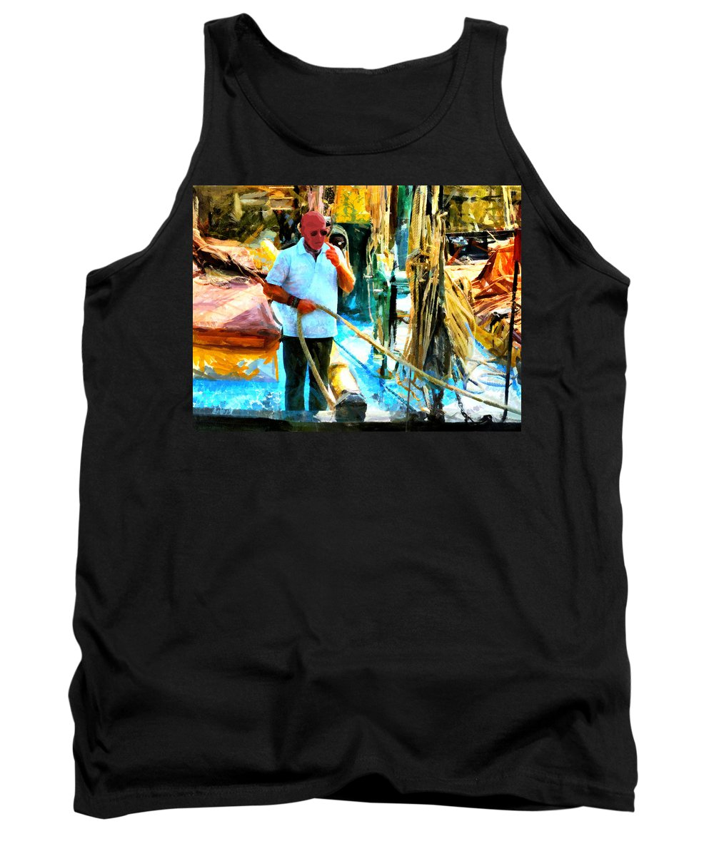 Crazy Tank Top featuring the digital art Who's Crazy Now? by Steve Taylor