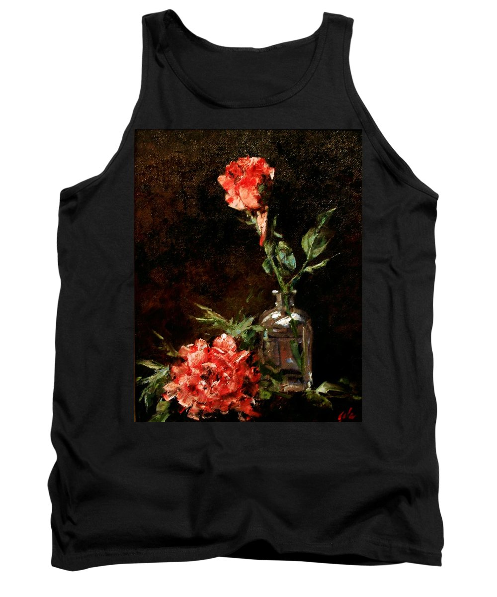 Floral Tank Top featuring the painting Wild Irish by Jim Gola