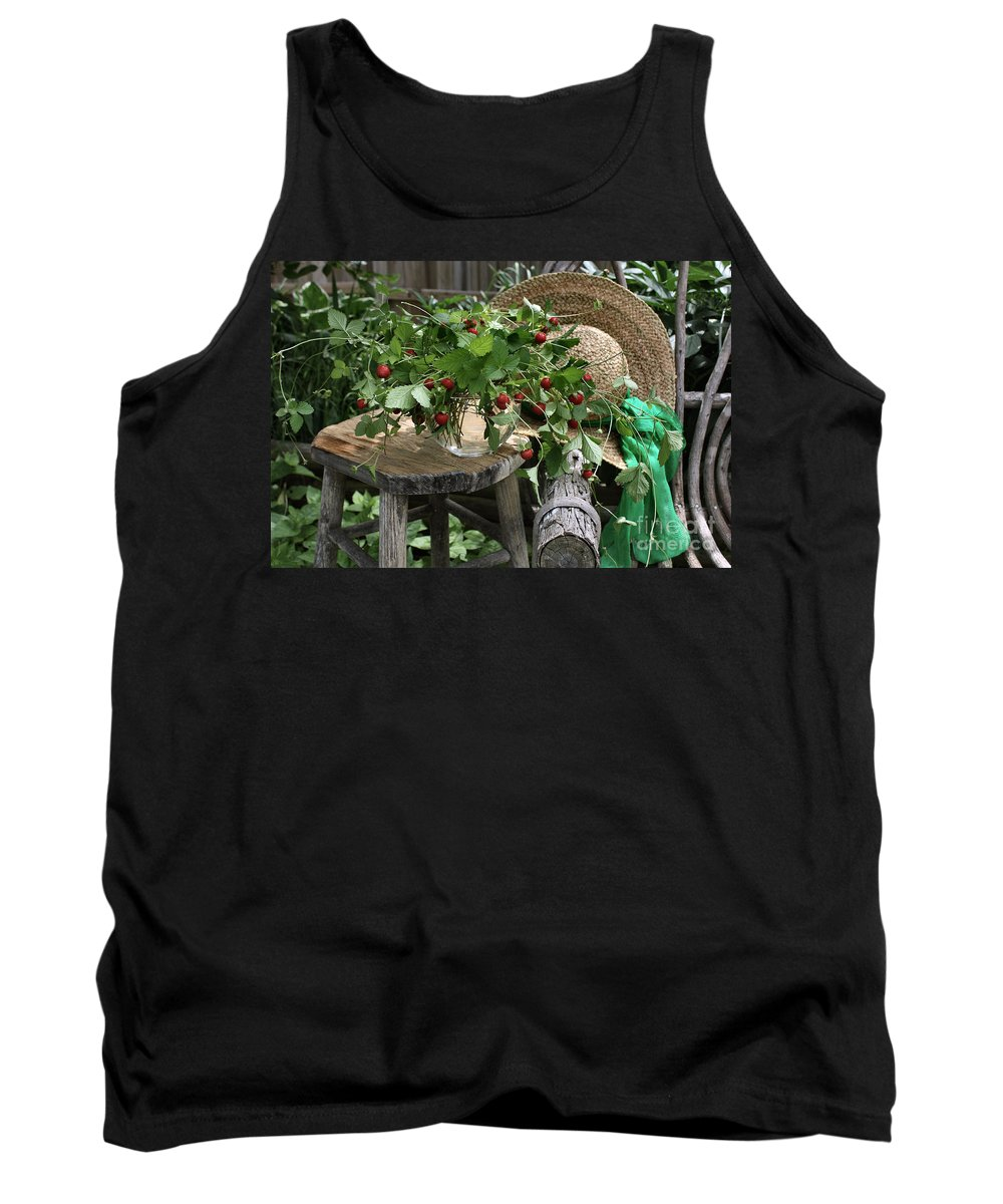 Wild Strawberries Tank Top featuring the photograph Wild Strawberries by Luv Photography