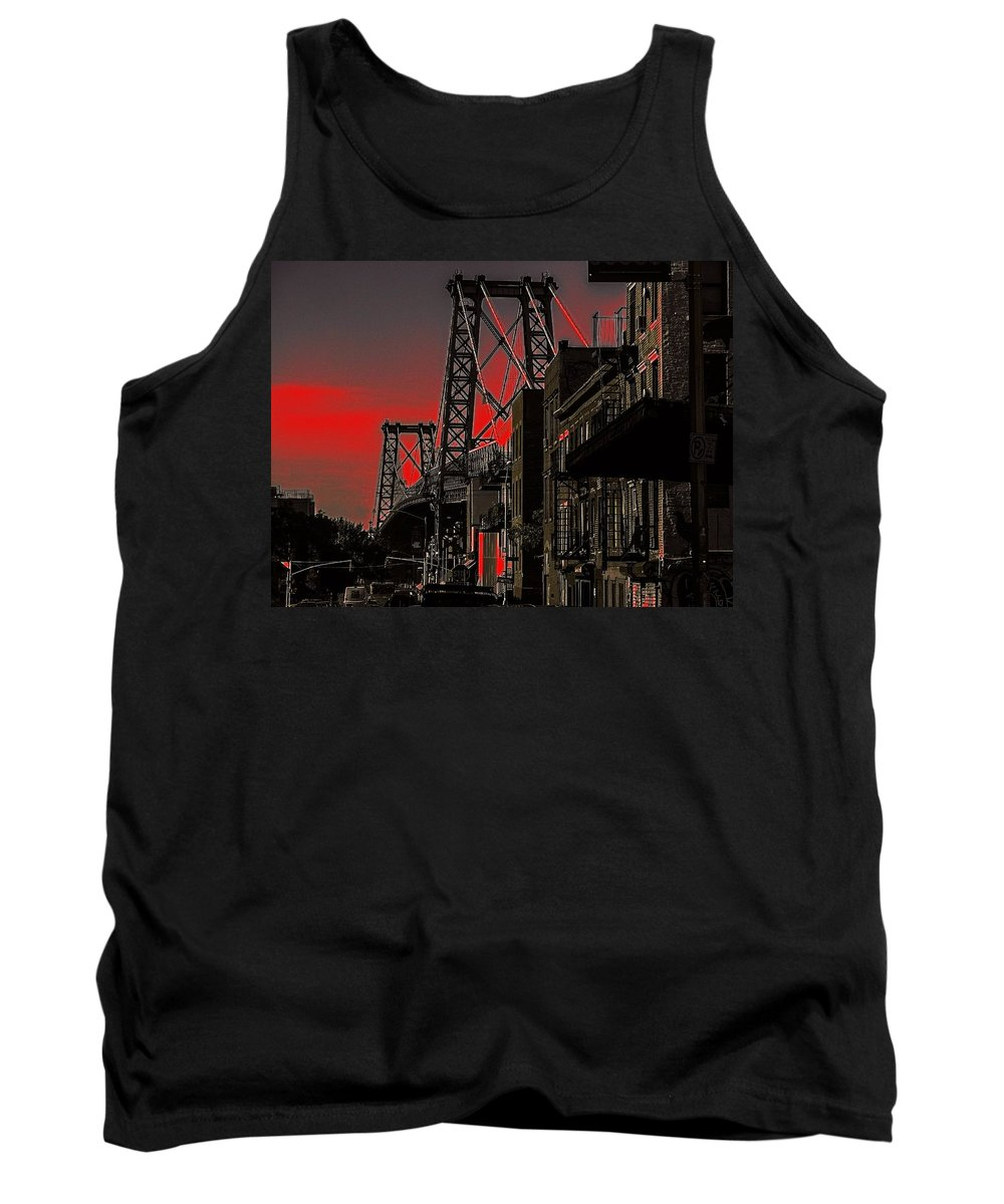 Brooklyn Tank Top featuring the photograph Williamsburg Bridge Abstract by Jeff Watts