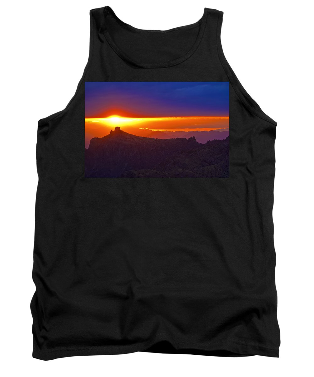 Sunset Tank Top featuring the photograph Windsong by Patrick Moore