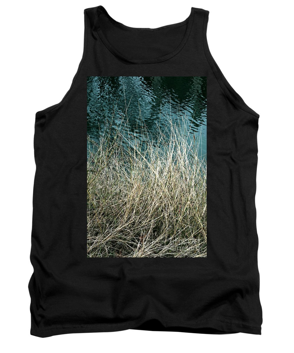 Winter Tank Top featuring the photograph Winter Grasses by Gary Richards
