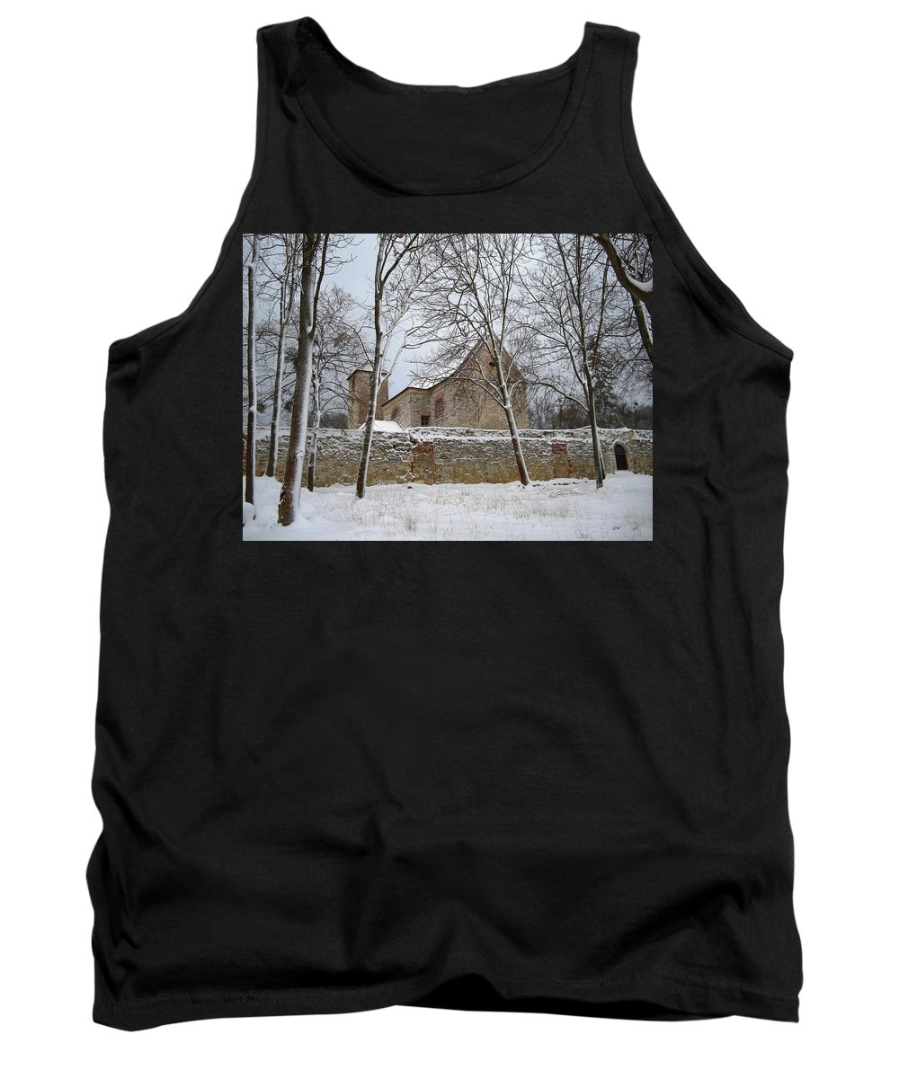 Winter Tank Top featuring the photograph Old Monastery by Gabriella Weninger - David