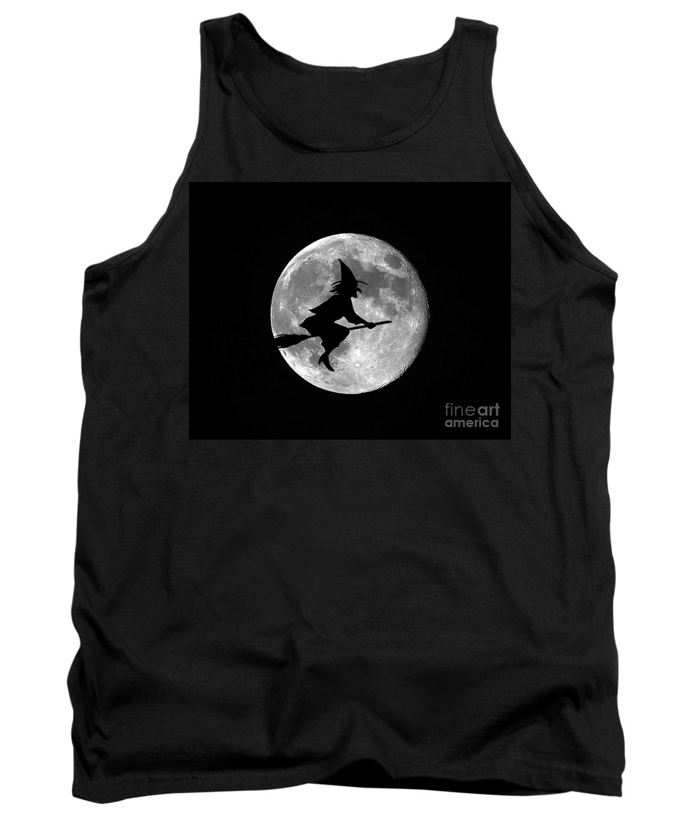 Moon Tank Top featuring the photograph Witchy Moon by Al Powell Photography USA
