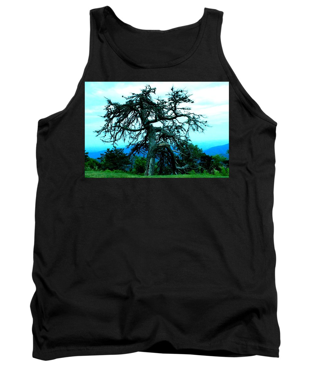 Dying Pine Tree Tank Top featuring the photograph Work Of Art by Mary Koval