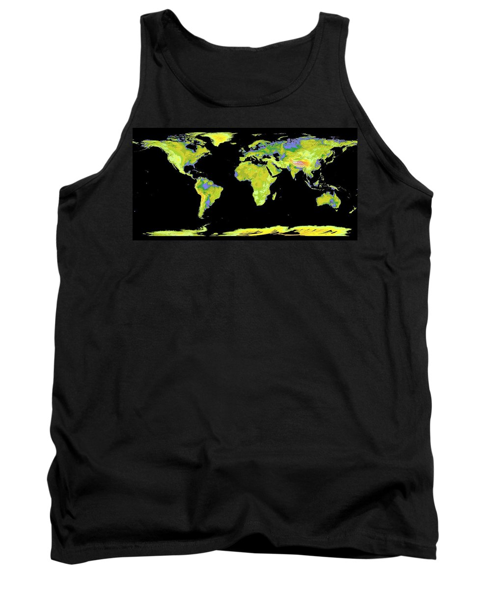 World Map Tank Top featuring the photograph World Map by Nasa Jpl