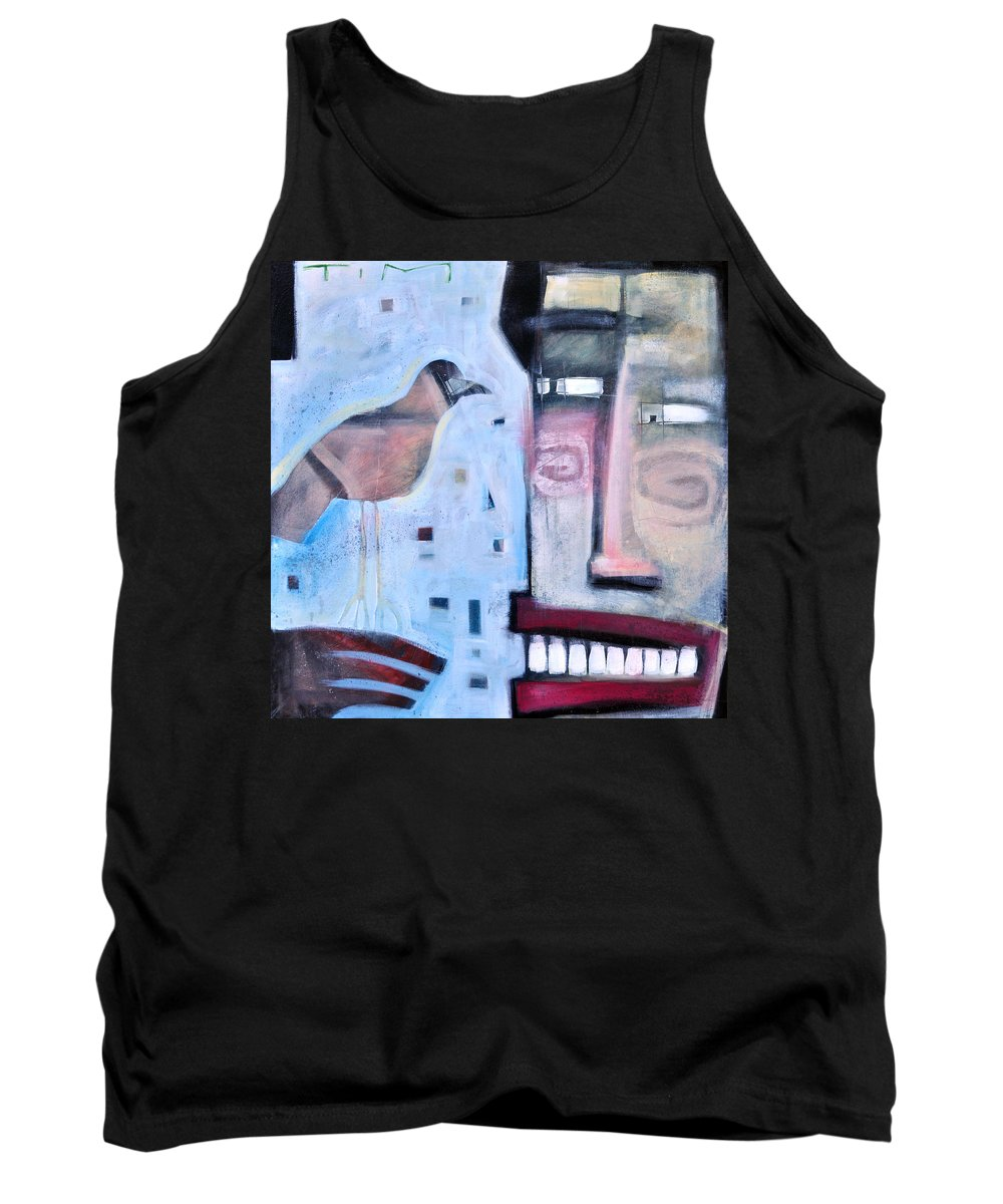 Man Tank Top featuring the painting Worth Two... by Tim Nyberg