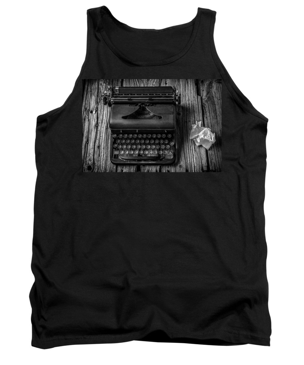 Old Typewriter Tank Top featuring the photograph Write Me by Garry Gay