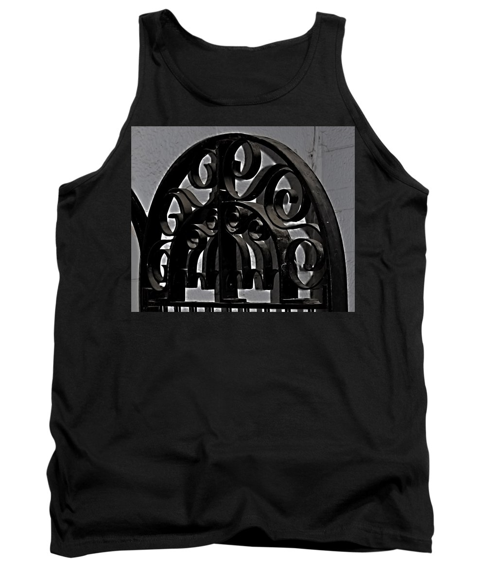 Tank Top featuring the photograph Wrought Iron by Cathy Anderson