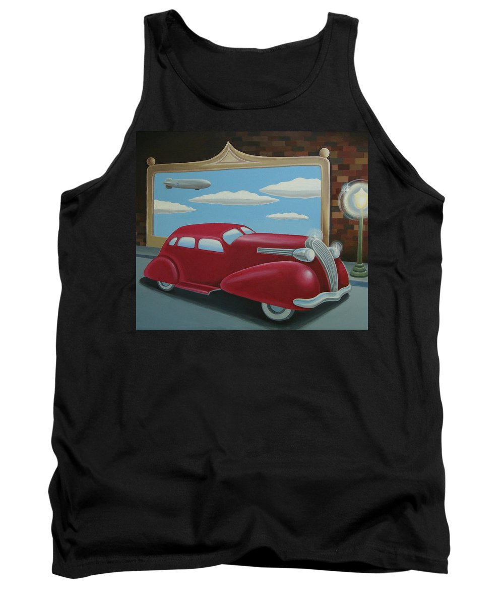 Automotive Tank Top featuring the painting Wyandotte Lasalle by Stuart Swartz