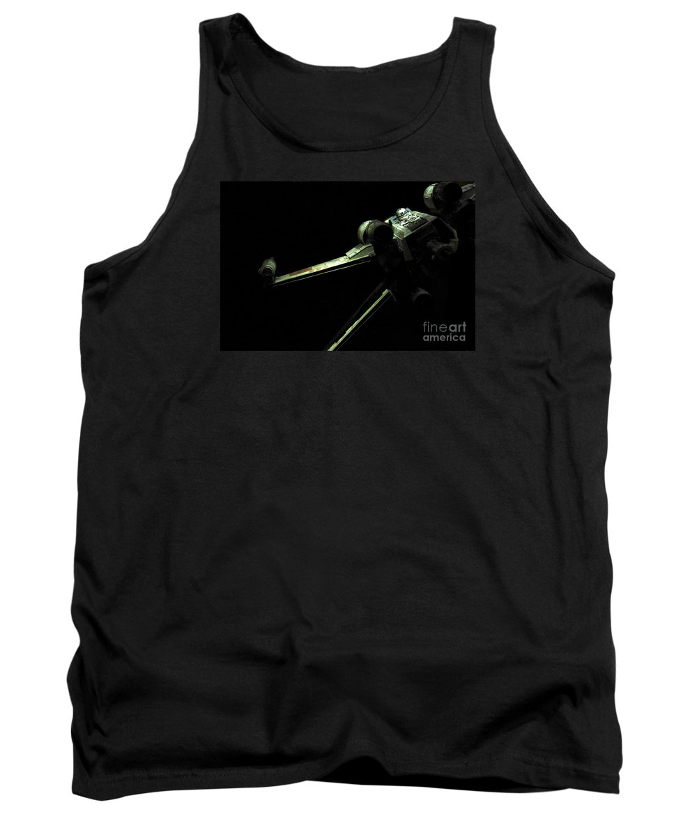 X-wing Tank Top featuring the photograph X-wing Fighter by Micah May