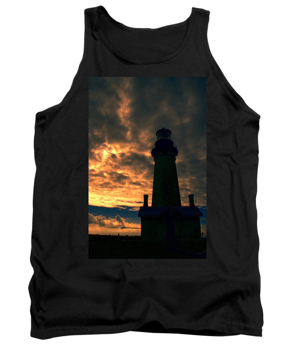 Tank Top featuring the photograph Yaquina Head Lighthouse 5 by Cathy Anderson