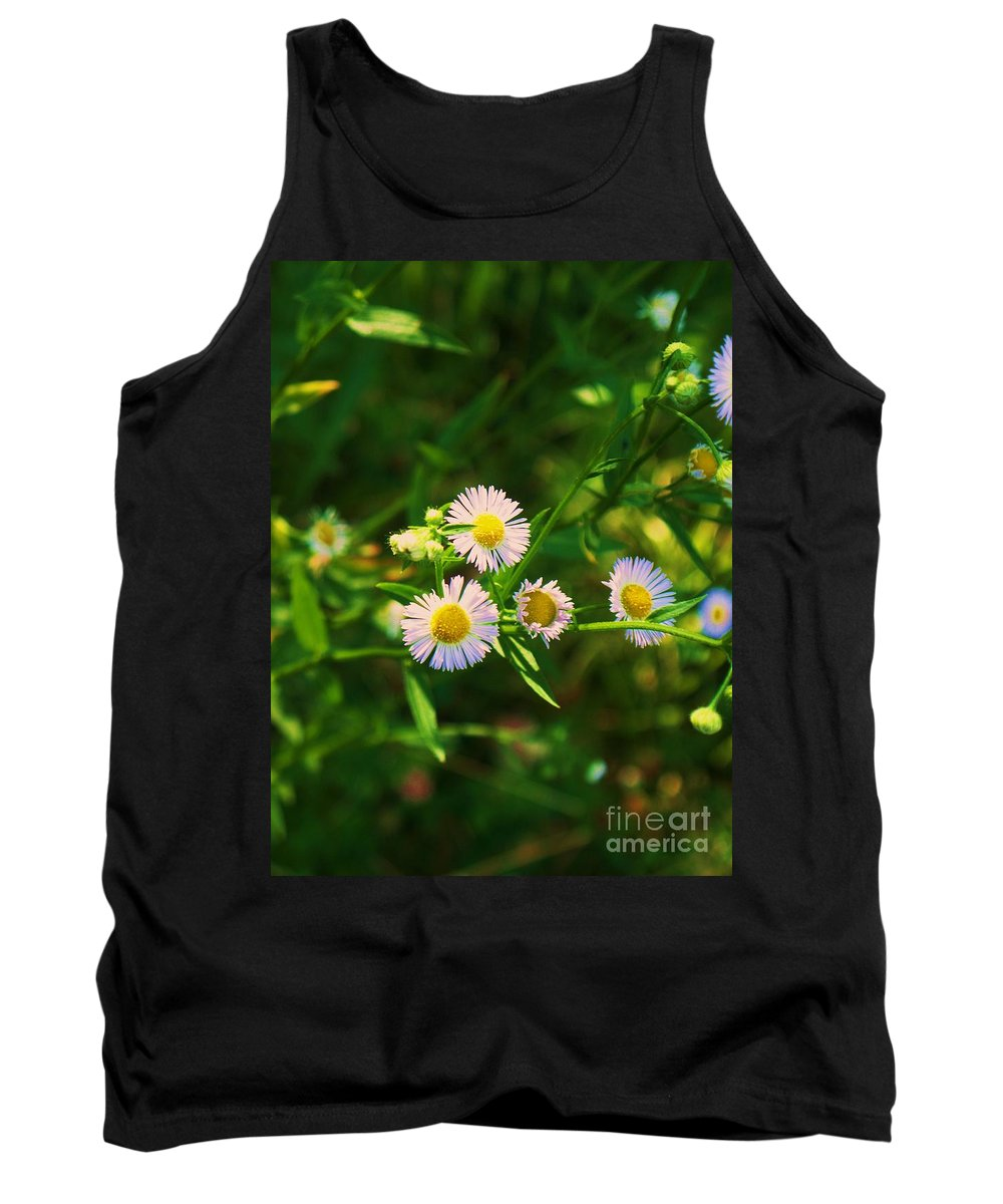 Nature Tank Top featuring the photograph Yellow And White Dasies by Eric Schiabor