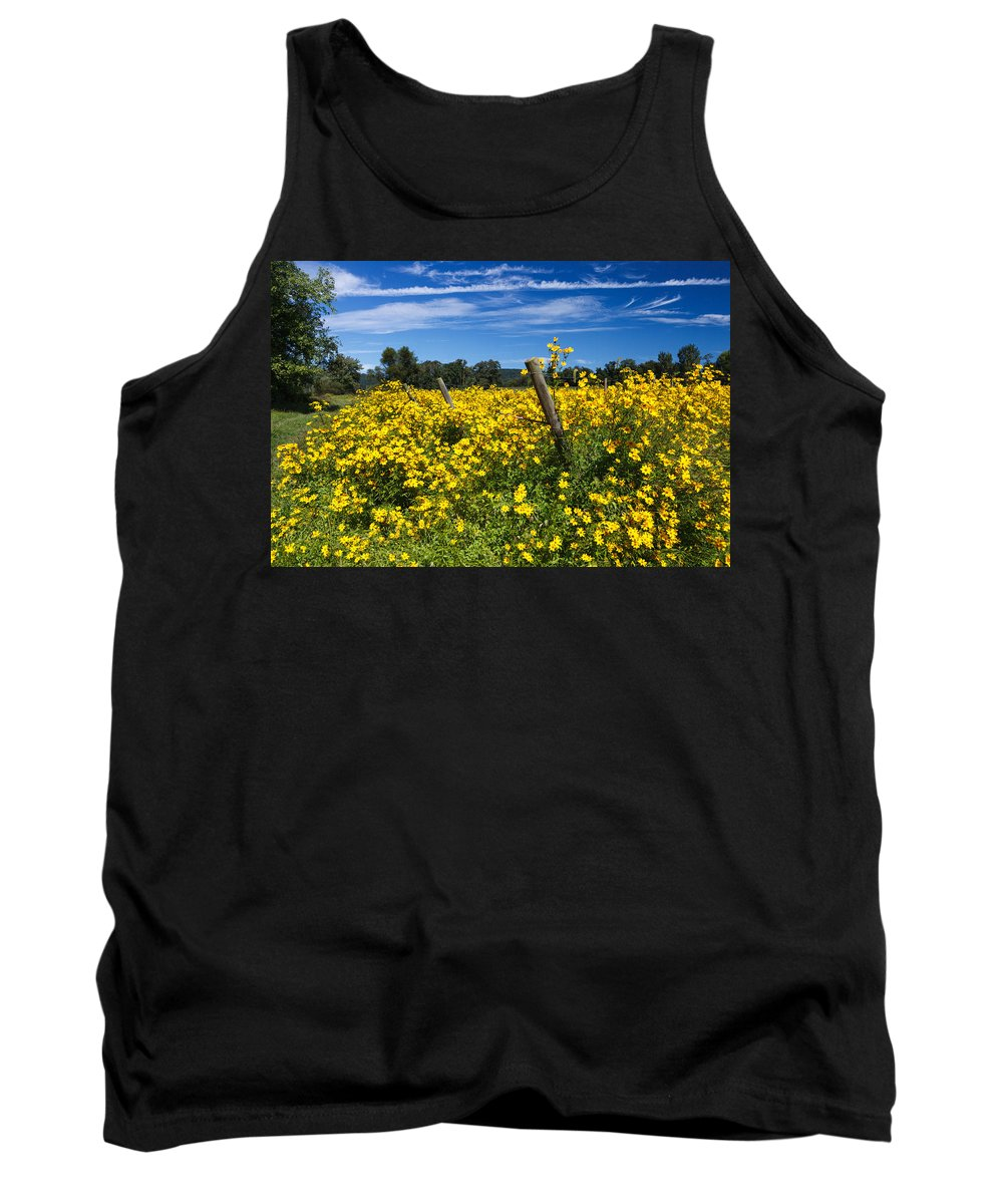 Wildflowers Tank Top featuring the photograph Yellow Profusion by Carol VanDyke