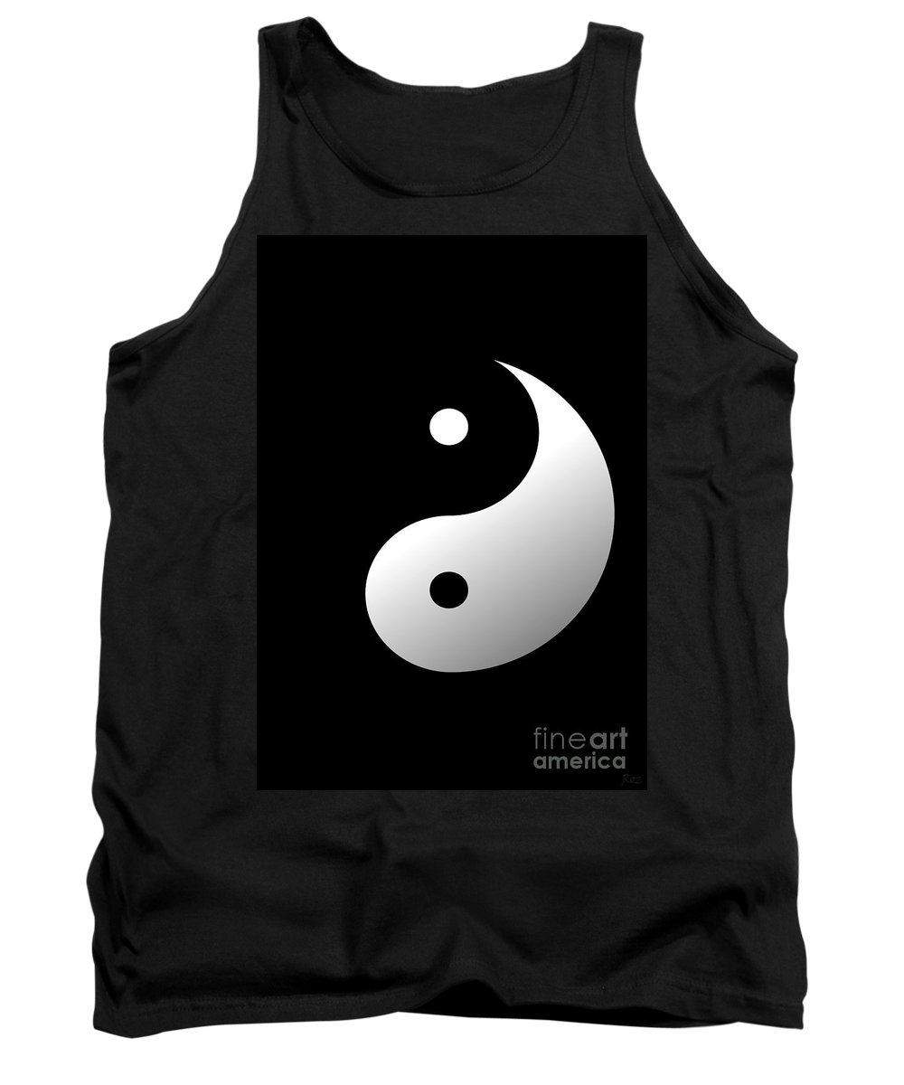 Yin Yang Tank Top featuring the painting Yin And Yang by Roz Abellera