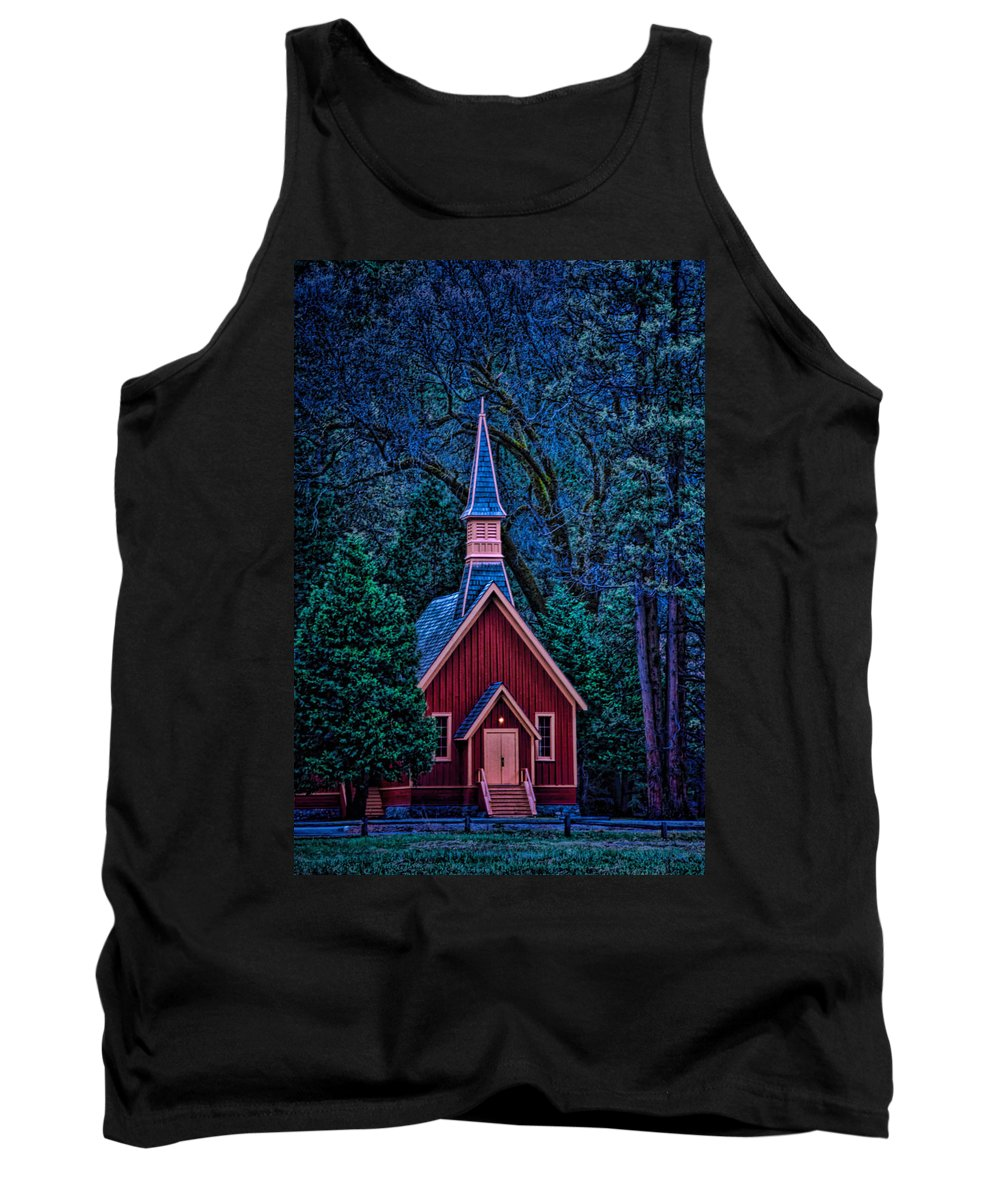 Architecture Tank Top featuring the photograph Chapel by Maria Coulson