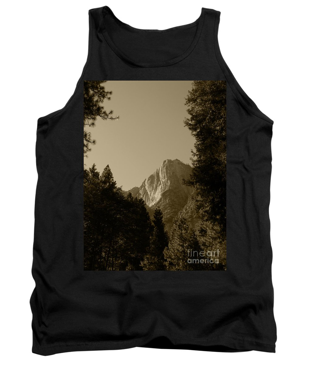 Yosemite National Park Tank Top featuring the photograph Yosemite Park Sepia by Mini Arora