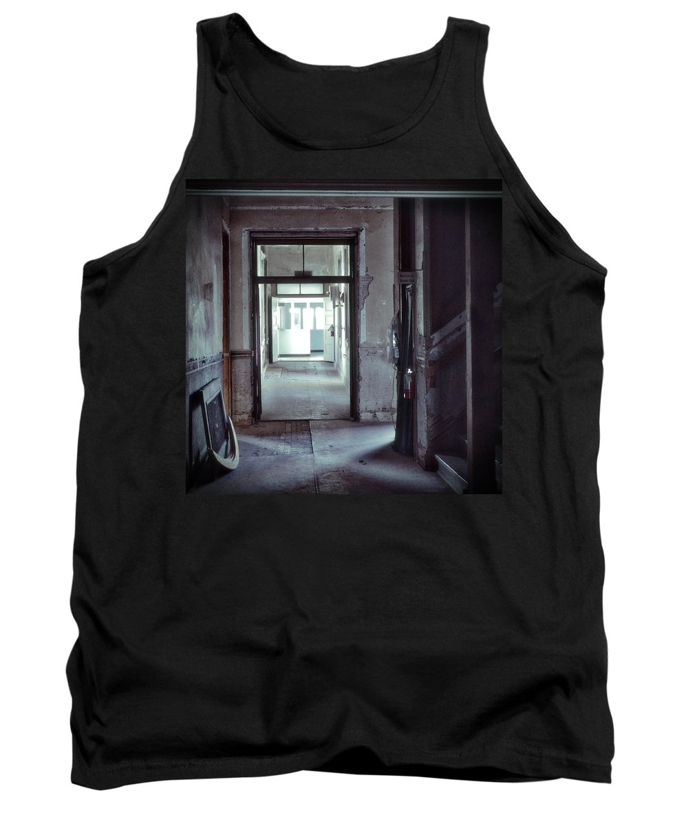 Haunted Tank Top featuring the photograph You Go First by Spencer Hughes