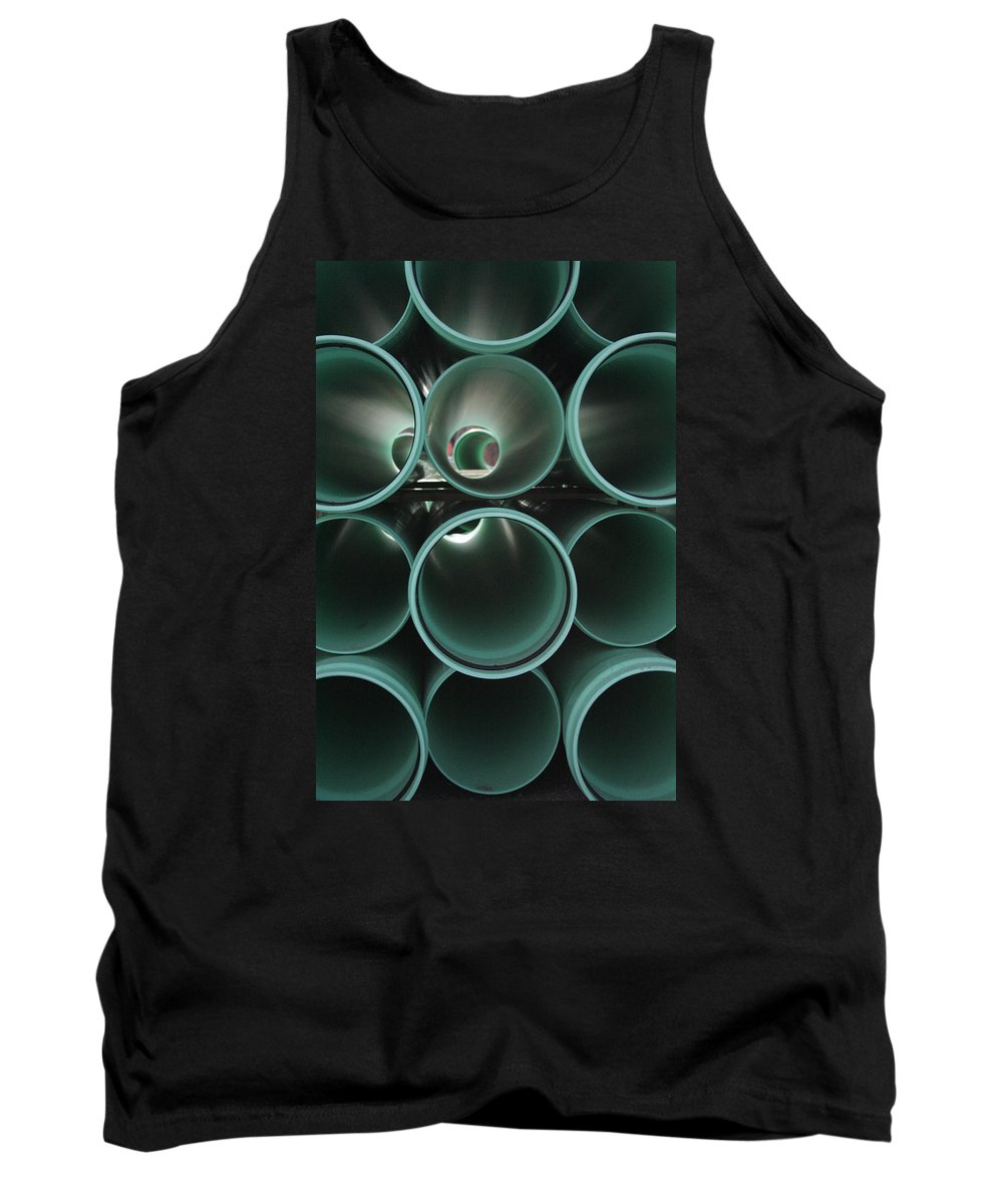 Abstract Tank Top featuring the photograph You Too Will Someday Be Underground by Ric Bascobert