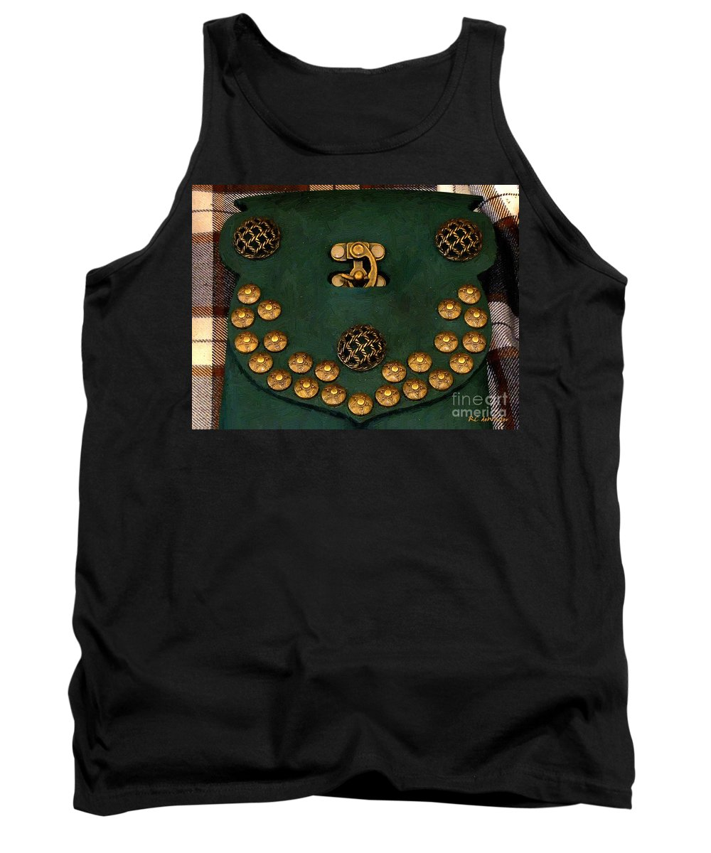 Brass Tank Top featuring the painting Your Sporran Sire by RC DeWinter