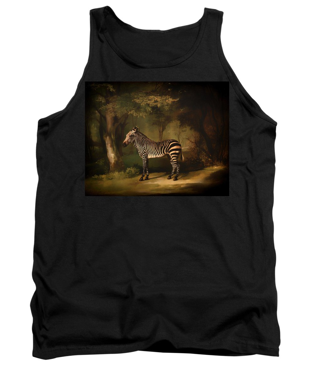 Painting Tank Top featuring the painting Zebra by Mountain Dreams