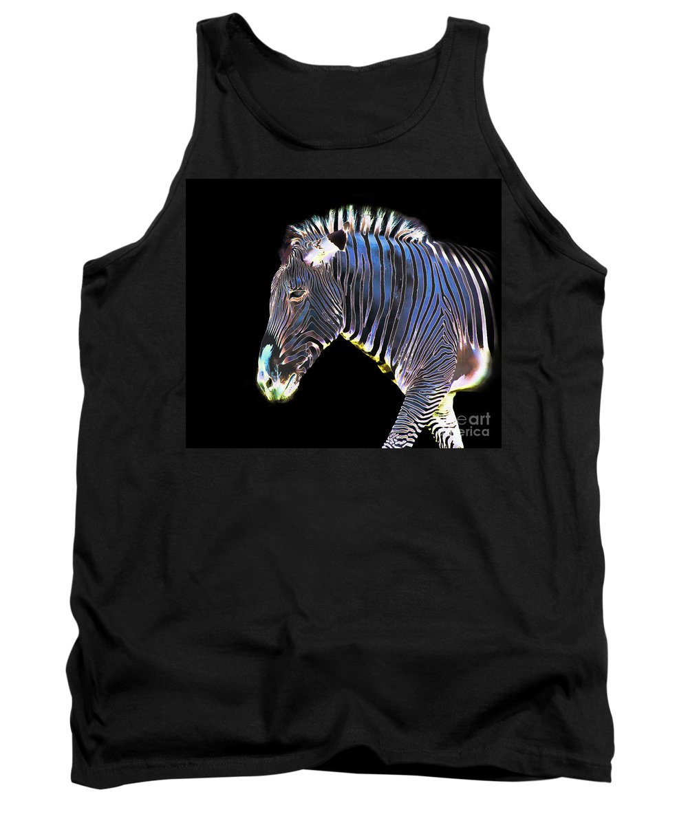 Zebra Tank Top featuring the photograph Zephyrus Zebra II by Sheila Laurens