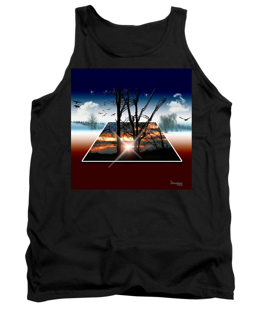 Sunrise Tank Top featuring the photograph Into Another Dimension by Ericamaxine Price