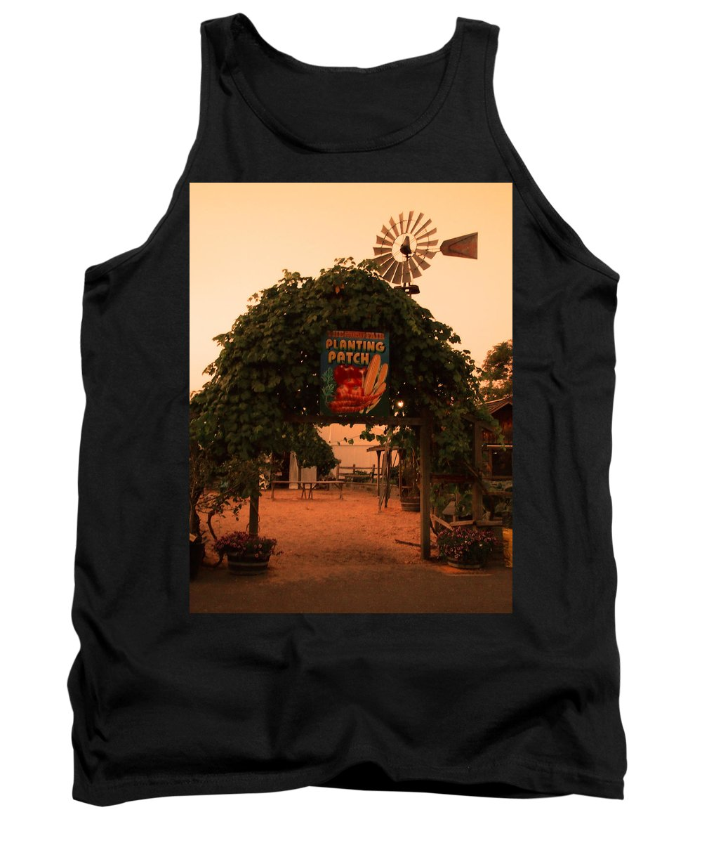 Planting Patch Arch Tank Top featuring the photograph Ivy Planting Patch Arch by Kym Backland