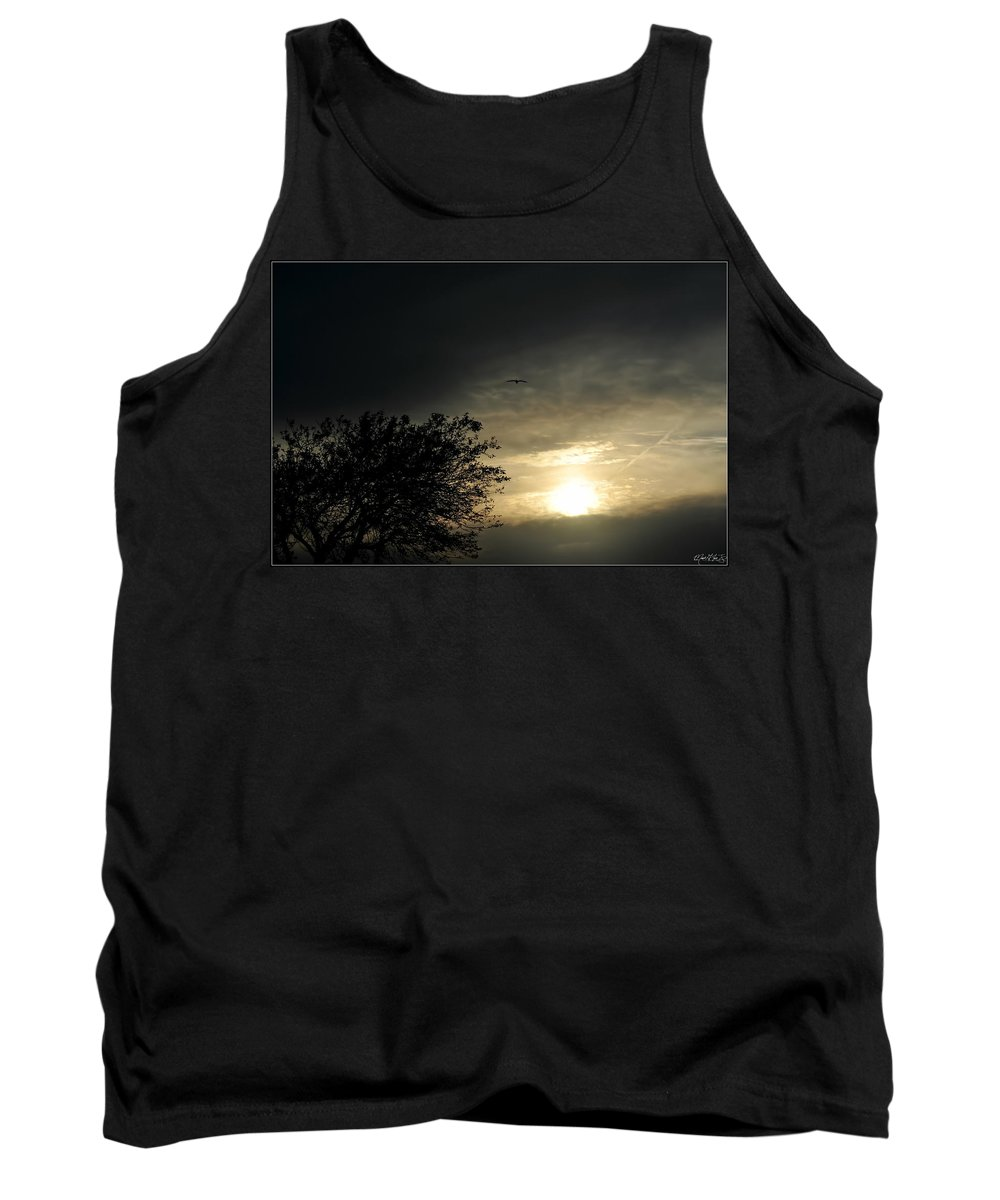 Tank Top featuring the photograph 002 When Feeling Down Pick Your Head Up To The Skies Series by Michael Frank Jr