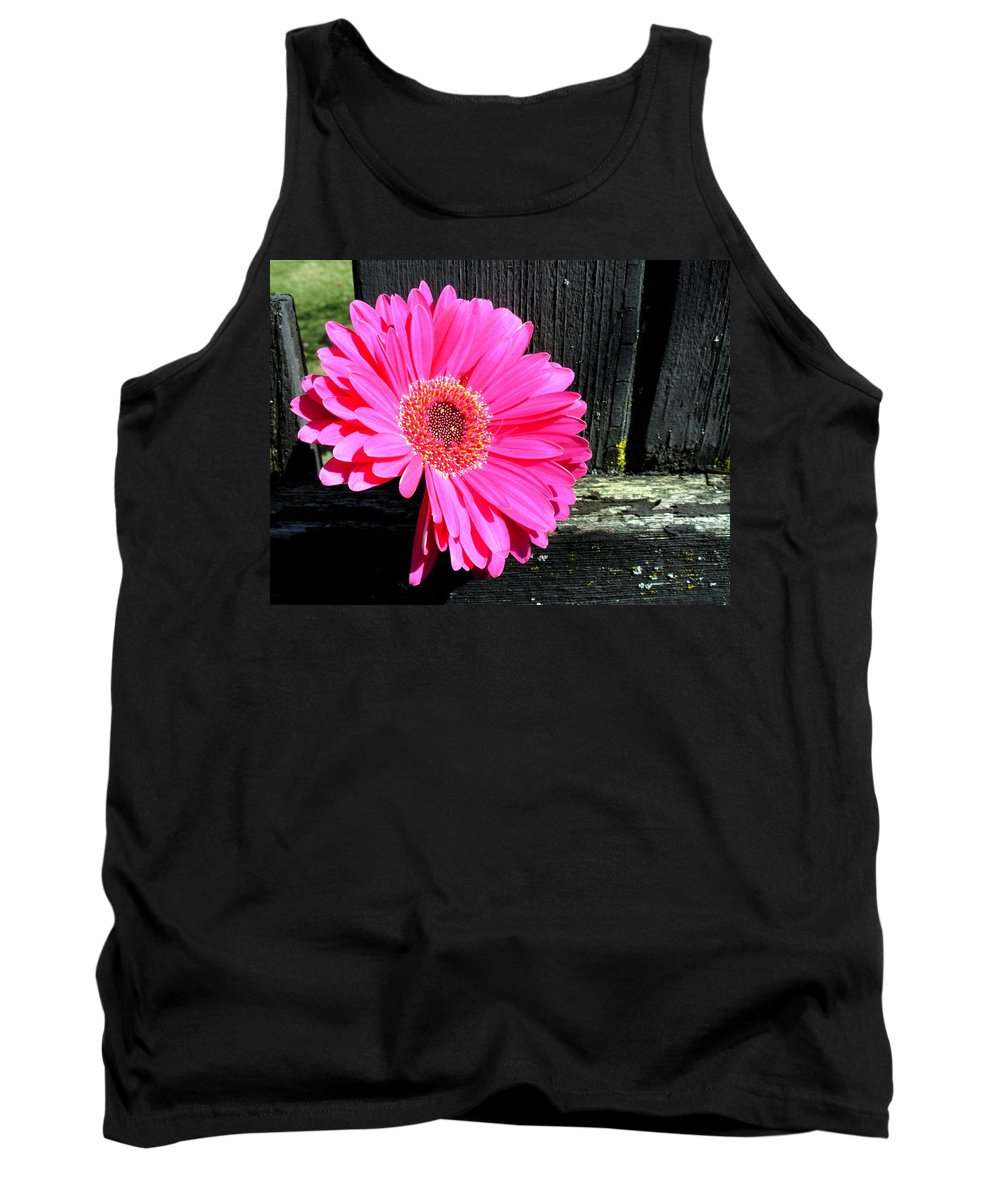 Gerbera Photographs Tank Top featuring the photograph 0996c by Kimberlie Gerner