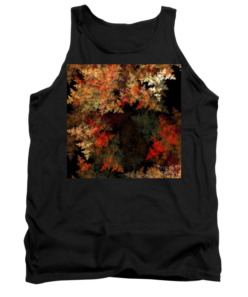 Fractal Digital Art Tank Top featuring the photograph Abstract 179 by Mike Nellums