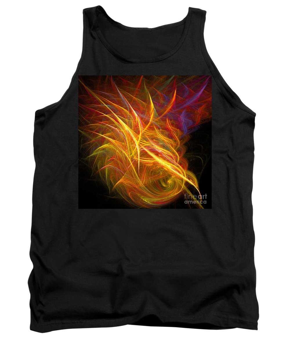 Fractal Digital Art Tank Top featuring the photograph Abstract Ninety-nine by Mike Nellums