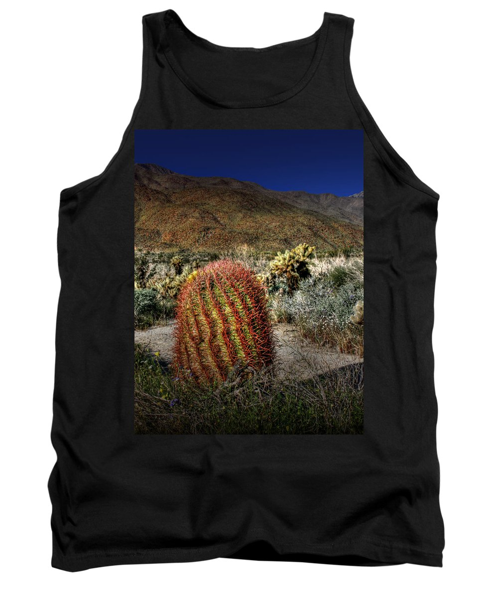 Barrel Cactus Tank Top featuring the photograph Barrel Cactus by Chris Brannen