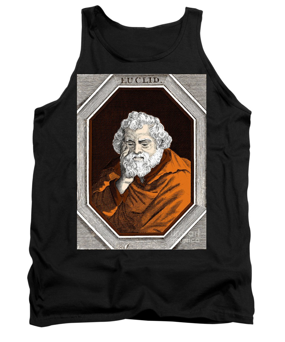 Science Tank Top featuring the photograph Euclid, Ancient Greek Mathematician by Science Source