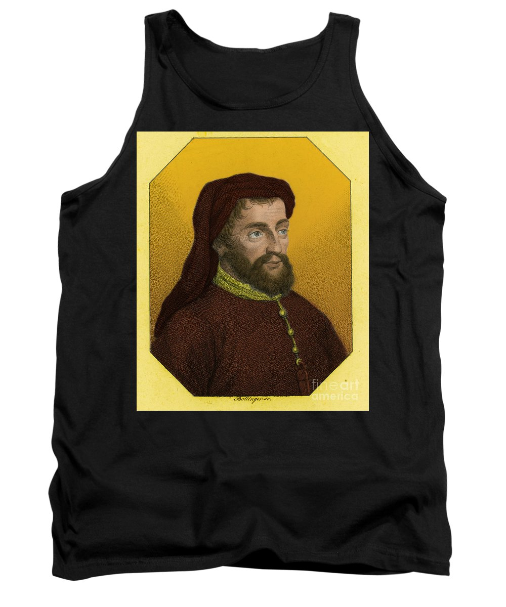 History Tank Top featuring the photograph Geoffrey Chaucer, Father Of English by Photo Researchers
