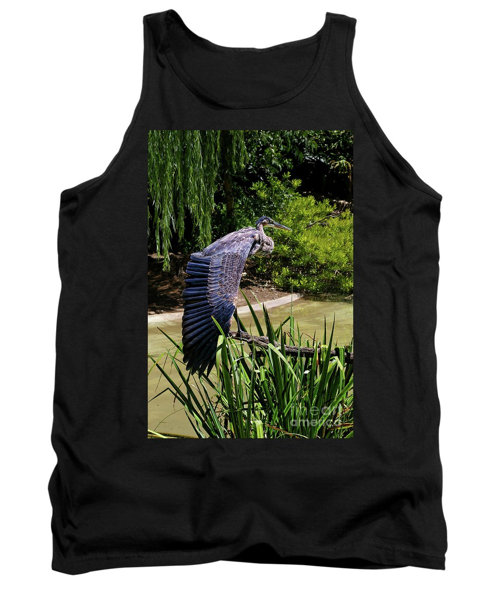 Great Blue Heron Tank Top featuring the photograph Great Blue Heron by Mariola Bitner