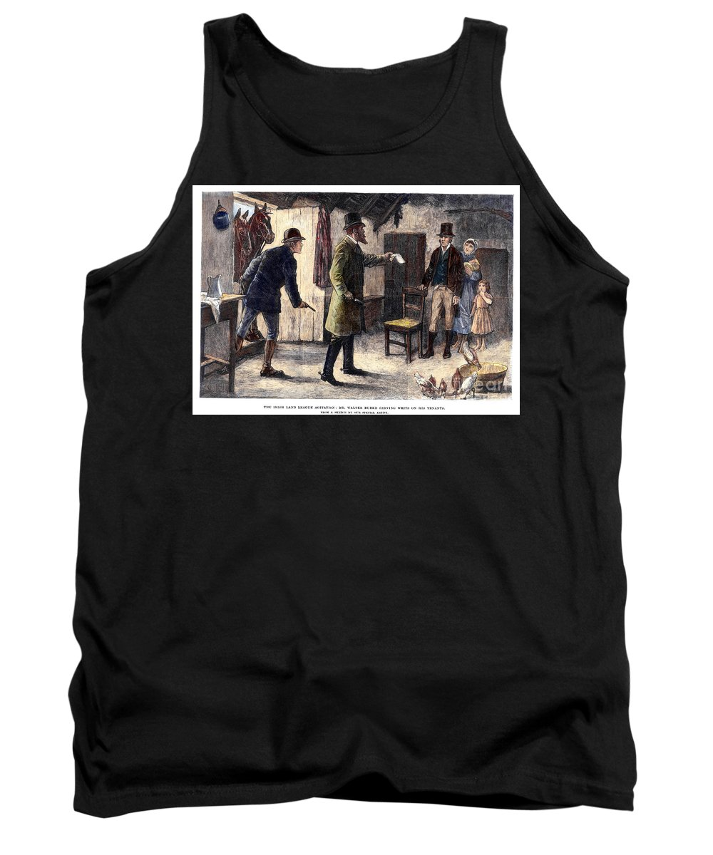 1881 Tank Top featuring the photograph Irish Land League, 1881 by Granger