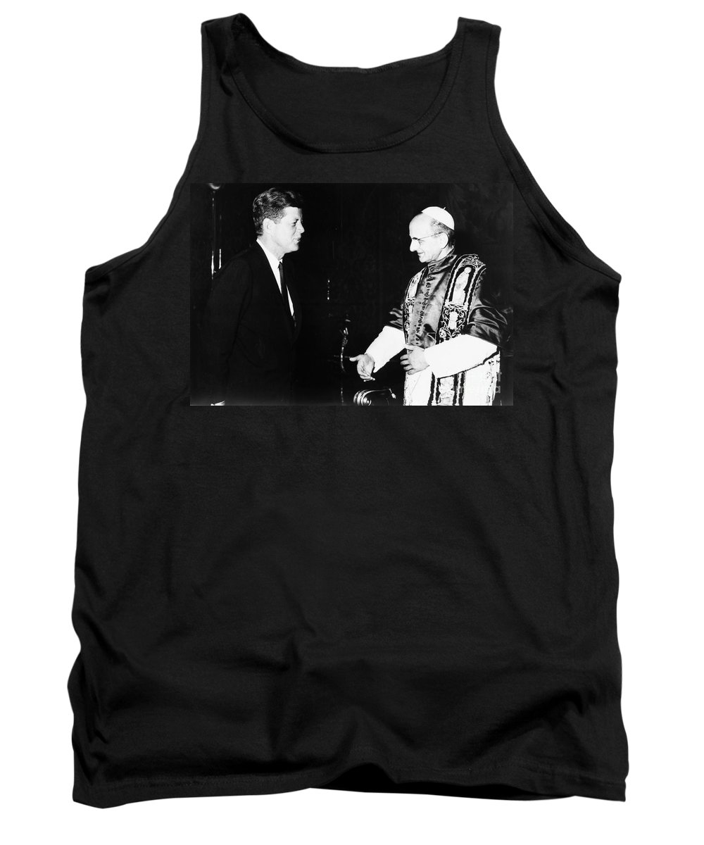 1963 Tank Top featuring the photograph John F. Kennedy by Granger