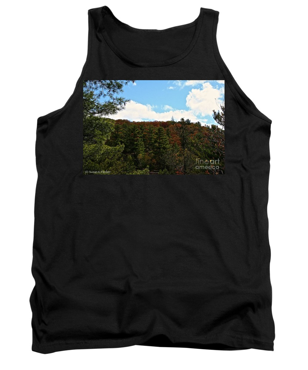 Landscape Tank Top featuring the photograph Partly Cloudy by Susan Herber