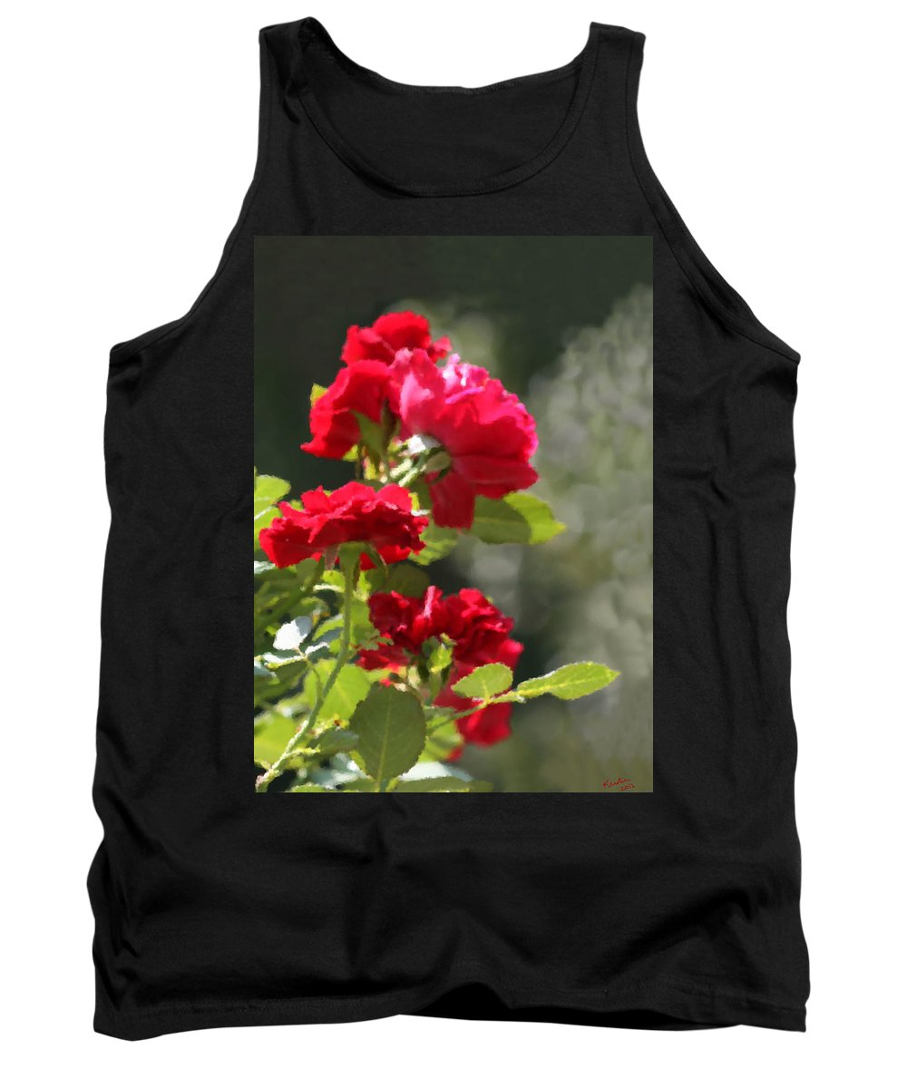 Roses Tank Top featuring the photograph Summer's Bloom by Kristin Elmquist