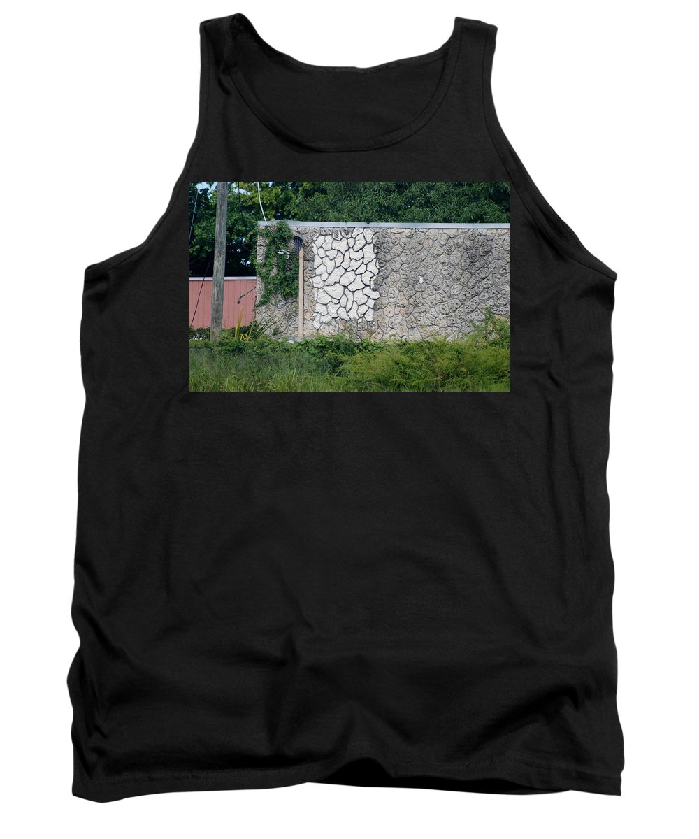 Grass Tank Top featuring the photograph The Wall by Rob Hans