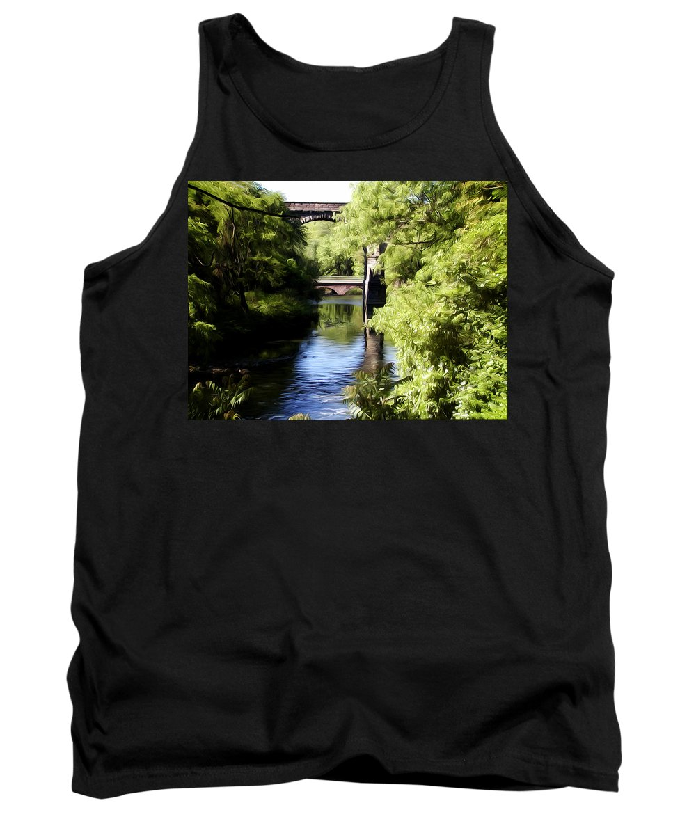 Wissahickon Creek Tank Top featuring the photograph Wissahickon Creek by Bill Cannon
