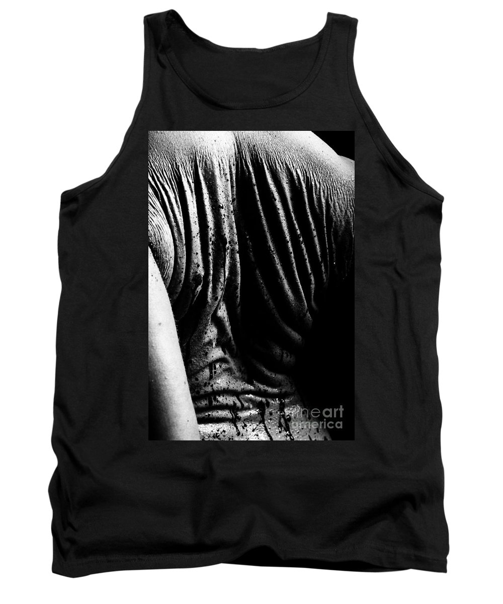 Nude Photographs Tank Top featuring the photograph Liquid Latex by Pavel Jelinek