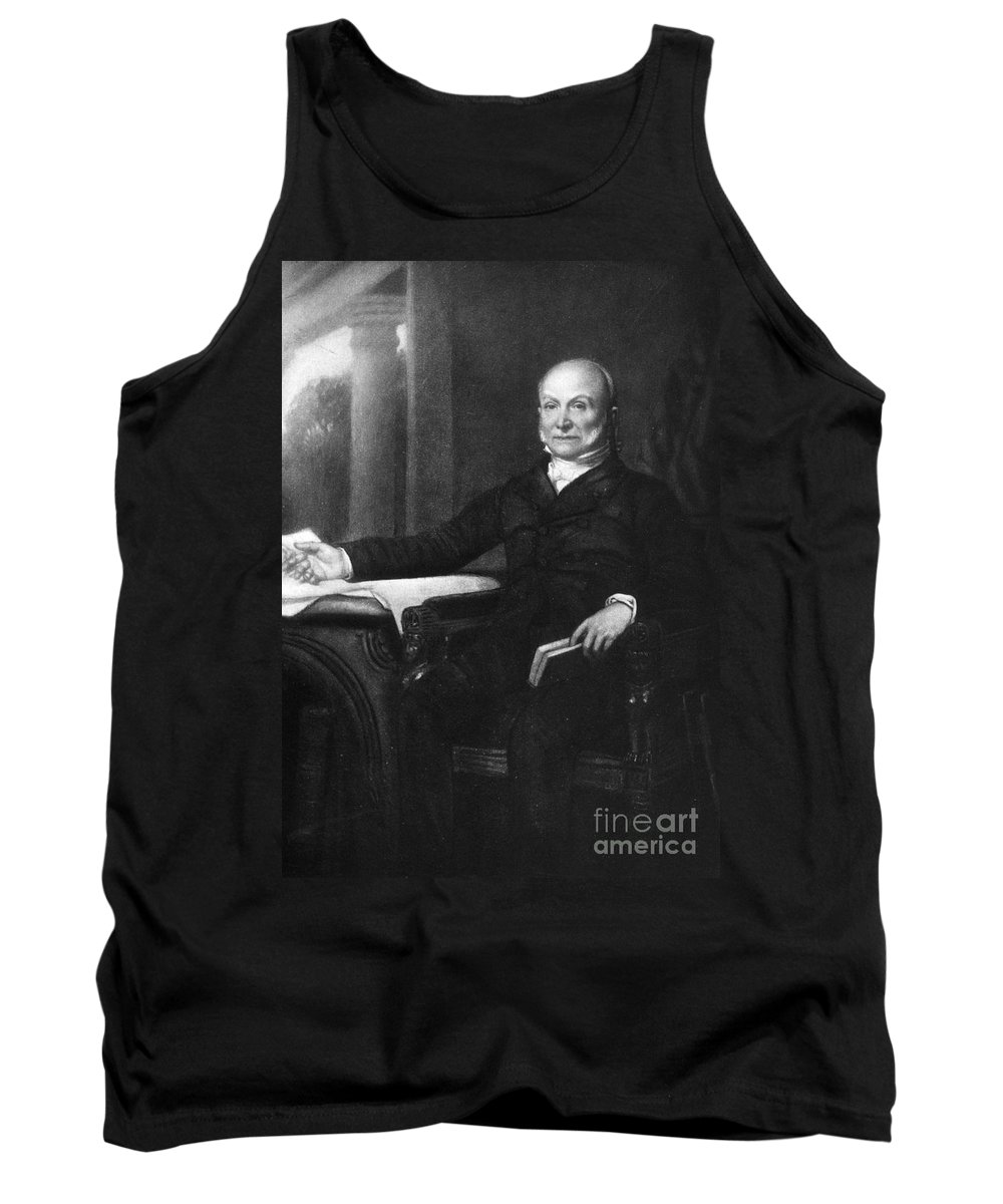 19th Century Tank Top featuring the photograph John Quincy Adams by Granger