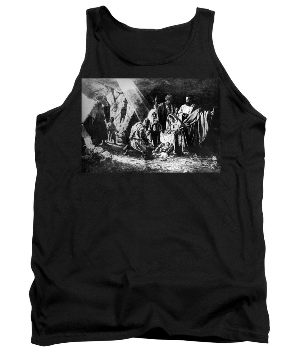 1898 Tank Top featuring the photograph 1898 Artwork Of Nativity Scene At Nativity Church by Munir Alawi