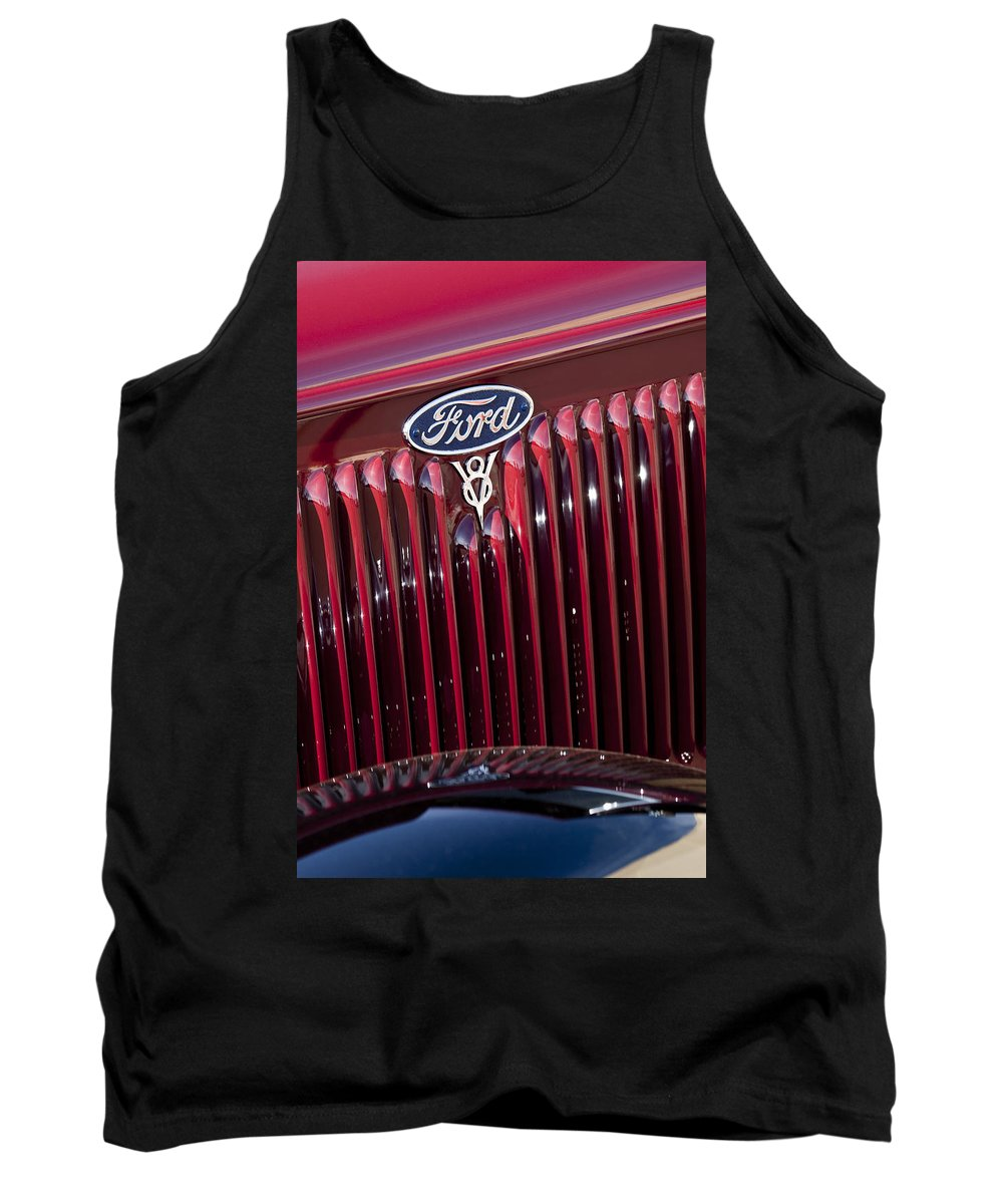 1934 Ford Tank Top featuring the photograph 1934 Ford V8 Emblem 2 by Jill Reger